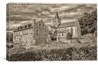 L'Abbaye de Graville, Canvas Print