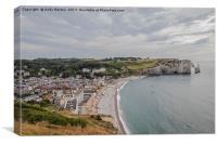 Etretat Cliffs, Normandie, France, Canvas Print