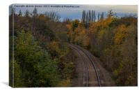 Railway In Braunstone, Leicester, Canvas Print