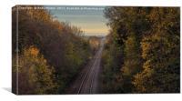 Railway Through Braunstone, Leicester, Canvas Print