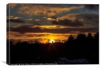 Sun Setting Over Braunstone, Canvas Print