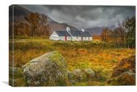 Black Rock Cottage, Canvas Print