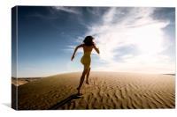 Sandy Dune Nude - Catch Me, Canvas Print