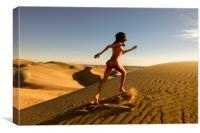 Sandy Dune Nude - The Run, Canvas Print