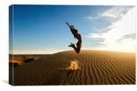 Sandy Dune Nude - The Jump, Canvas Print