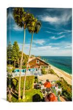 Sunny Summer Day Laguna Beach, Canvas Print