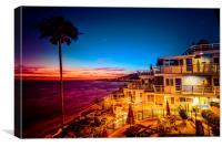 Sunset twilight Laguna Riviera Beach Resort, Canvas Print