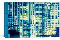 Urban Sprawl Downtown Moonlit, Canvas Print