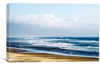 Summer Waves Netarts Oregon, Canvas Print