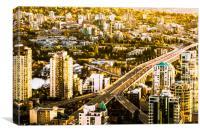 Granville Street Bridge Vancouver British Columbia, Canvas Print