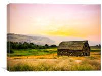 Farm House Okanagan British Columbia Canada Summer, Canvas Print