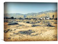 Deserted Desert Palm Springs, Canvas Print