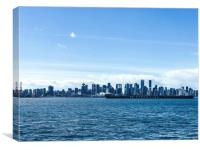 City of Vancouver from the North Shore, Canvas Print