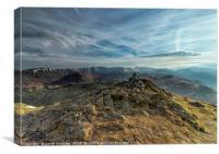 Dramatic Skyline over Place Fell Mountain , Canvas Print