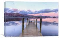 Derwent Water Jetty at Sunrise , Canvas Print