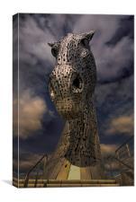 Kelpies Sculpture frontal View, Canvas Print