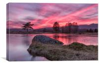 Cumbria Delight at Sunset over Kelly Hall Tarn, Canvas Print
