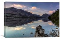 Buttermere morning glory, Canvas Print