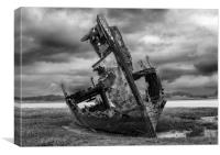 Fleetwood Wreck on a Stormy Morning, Canvas Print