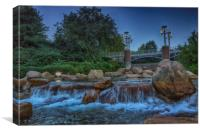 Worlds Fair Park Waterfalls, Canvas Print