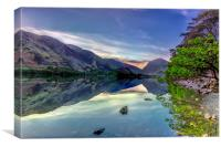 Sunrise Over Buttermere Water , Canvas Print