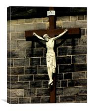 Crucifix, Canvas Print