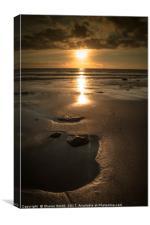 the beach at sun set, Canvas Print