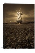 Llancayo Windmill, Canvas Print