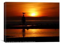 Sunset, Crosby Beach. , Canvas Print