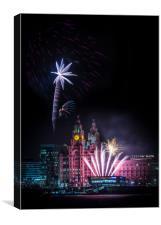Pier Head Firework Display, Canvas Print