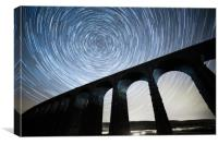 Startrails, Ribblehead Viaduct, Canvas Print