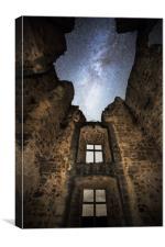 Milky Way over St. Germain Castle, Canvas Print