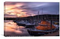 Inverness Marina Sunset, Canvas Print