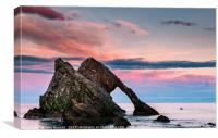 Bow Fiddle Rock Sunset, Canvas Print