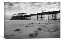 Cromer Pier Monochrome, Canvas Print