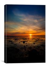 Sunset in Snettisham, Canvas Print