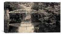 Bridge over the River Derwent, Canvas Print