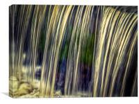 Water Falls..., Canvas Print