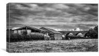 The Viaduct and the Farm, Canvas Print