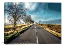 The Road to Marefield, Canvas Print
