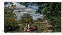 Foxton Locks Cruise, Canvas Print