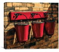 Fire Buckets Ready, Canvas Print