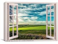 Window onto Sunlit Fields , Canvas Print