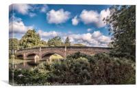 Abbey Park Bridge, Canvas Print