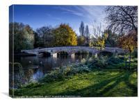 Abbey Park Stone Bridge, Canvas Print