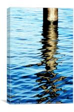 River Thames reflection, Canvas Print