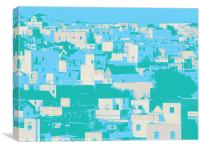 Vejer houses, Canvas Print
