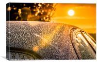 Car Detailing Sunset Beading, Canvas Print