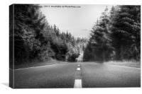 Denbigh Moors - Evo Triangle, B4501 Road, Canvas Print