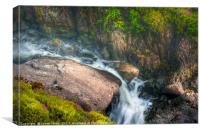 Rocky Waterfall Stream , Canvas Print